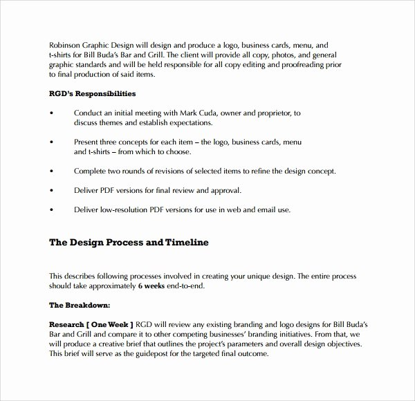 Web Design Proposal Sample Doc New Sample Graphic Design Proposal Template 9 Free