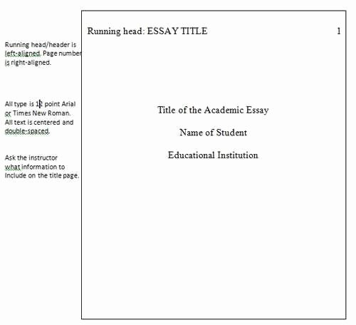 Website Analysis Essay Example Elegant Apa Style Essays are Divided Into the Following Sections