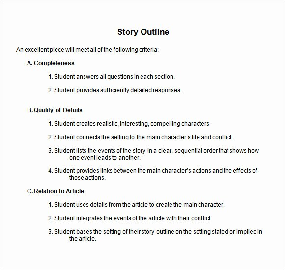 Website Content Outline Template Lovely Story Outline Template 9 Download Free Documents In Pdf