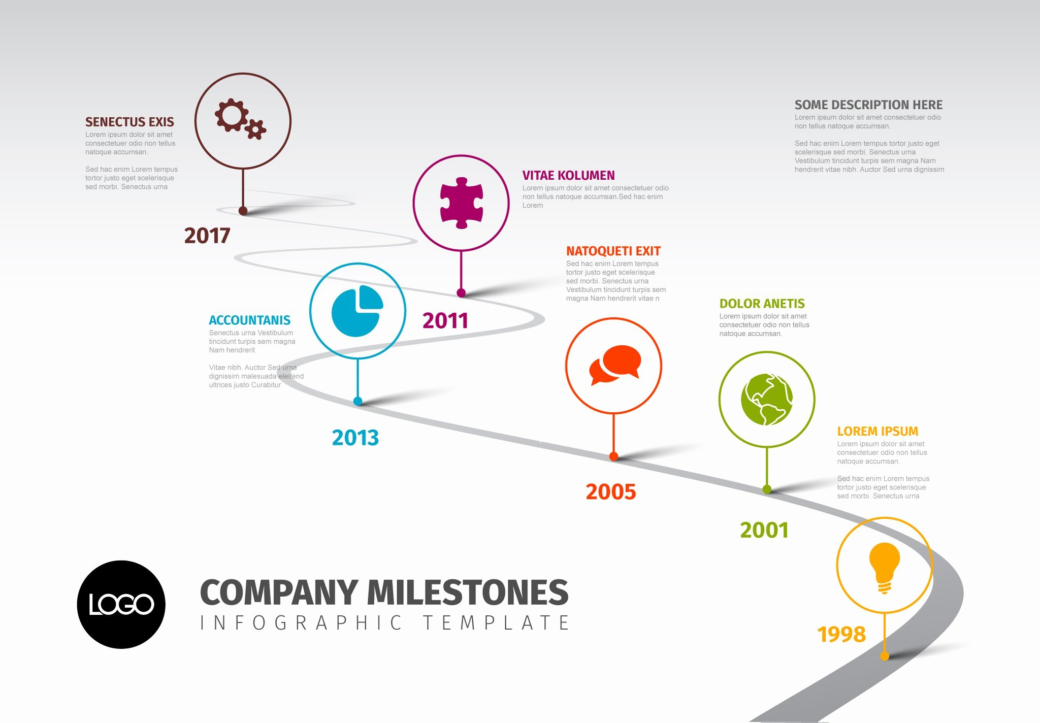 Website Development Timeline Template Inspirational Timeline Template with Icons Presentation Templates