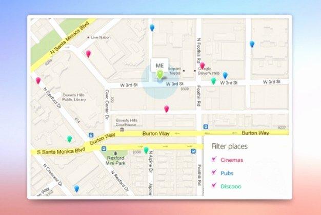 Website Map Template Lovely App Google Maps Template Psd File