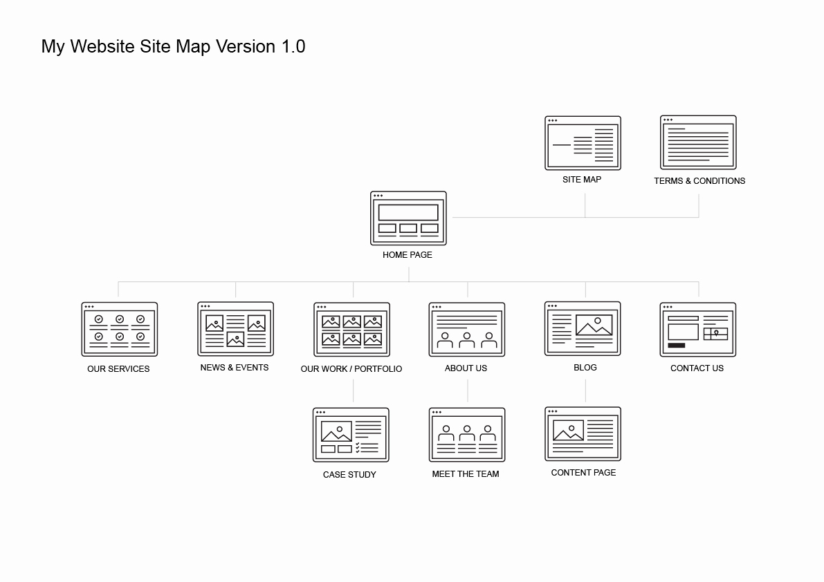 Website Map Template Lovely Website Site Map Kit Pitchstock