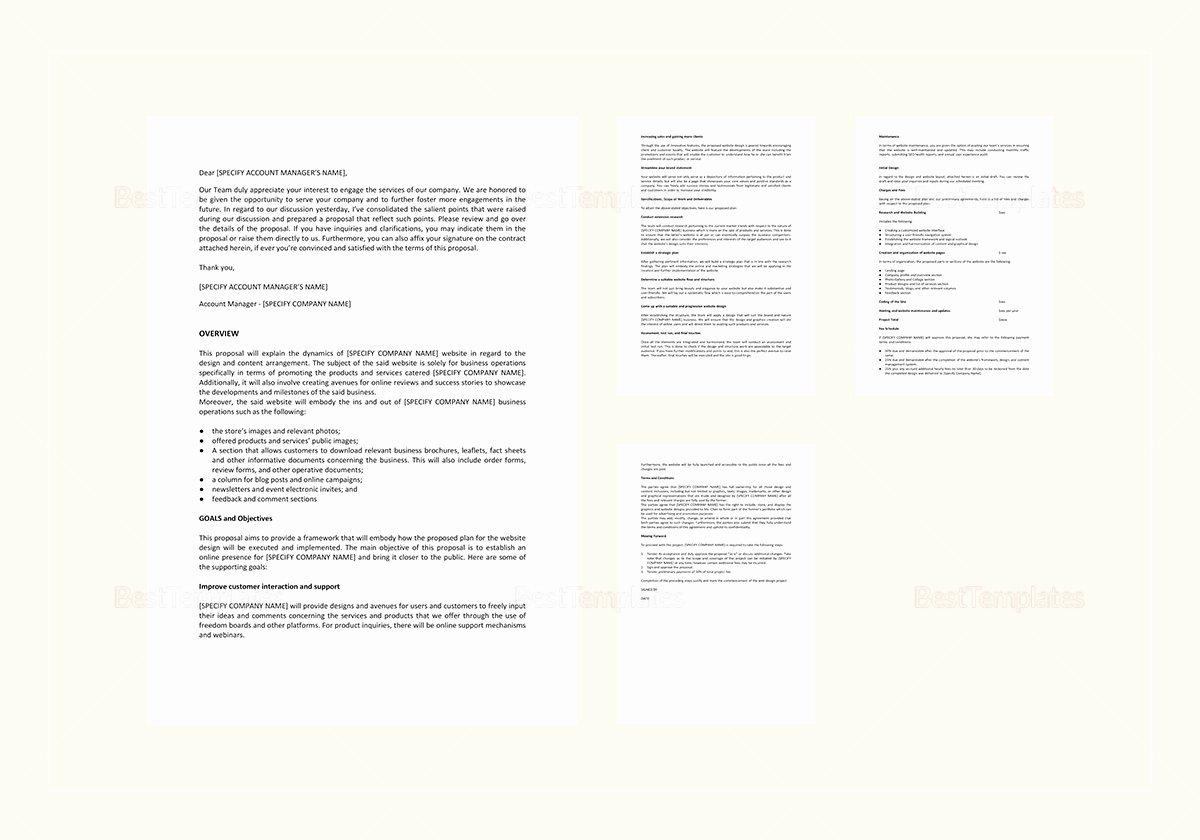 Website Proposal Template Word Beautiful Website Design Proposal Template In Word Google Docs