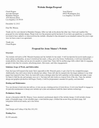 Website Proposal Template Word Best Of 32 Sample Proposal Templates In Microsoft Word