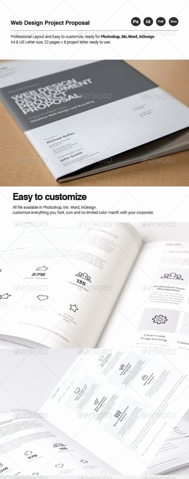 Website Proposal Template Word Best Of 48 Best Business Proposal Templates In Indesign Psd & Ms