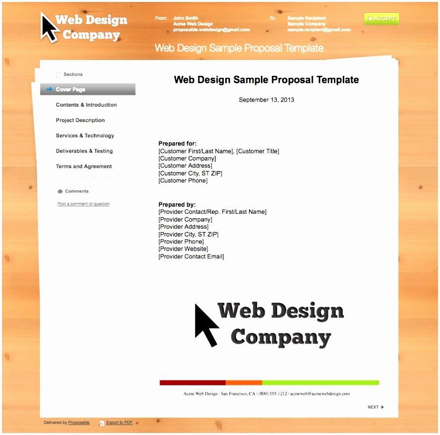 Website Proposal Template Word Luxury 10 Web Design Proposal Template Word Utita
