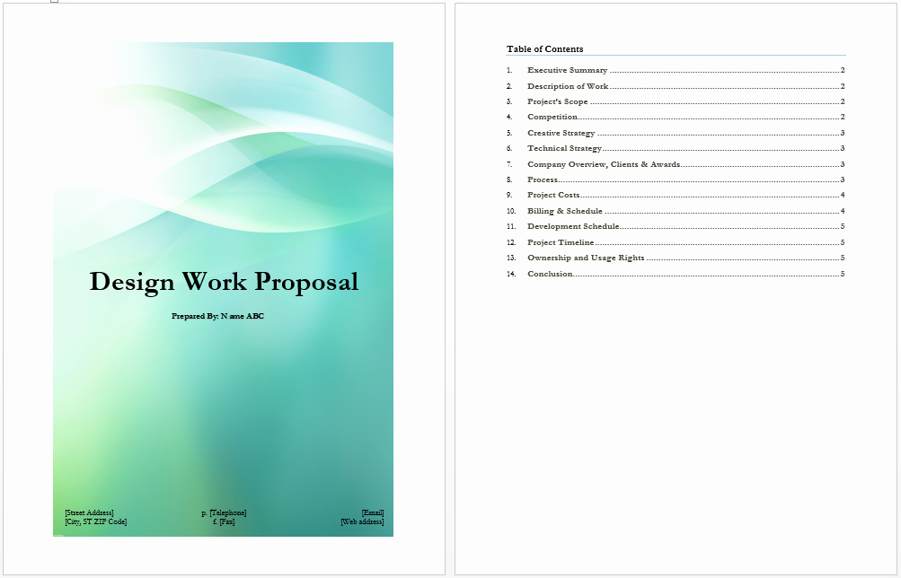 Website Proposal Template Word Luxury Design Work Proposal Template Microsoft Word Templates