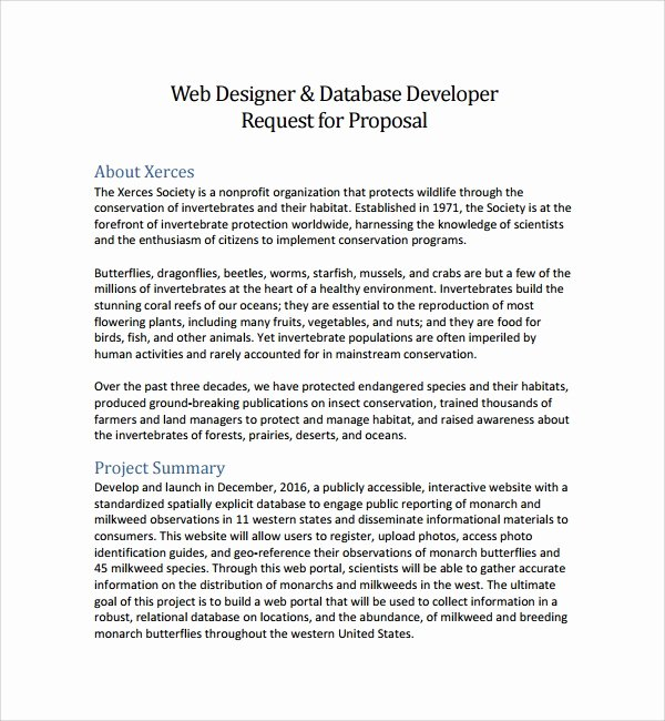 Website Proposal Template Word Luxury Sample Web Design Proposal Template 8 Free Documents In