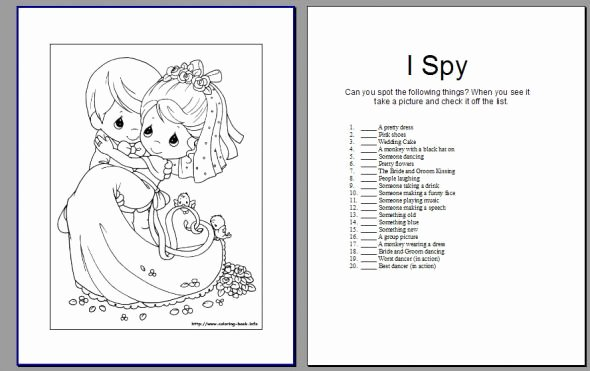 Wedding Coloring Book Templates Best Of My Version Of A Kids Activity Book Pic Heavy