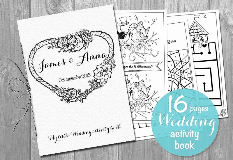 Wedding Coloring Book Templates New Kids Wedding Activity Book Printable Personalized