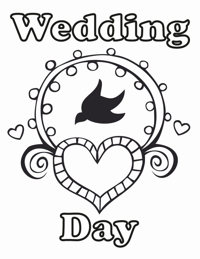 Wedding Coloring Book Templates Unique Free Wedding Coloring Pages Az Coloring Pages