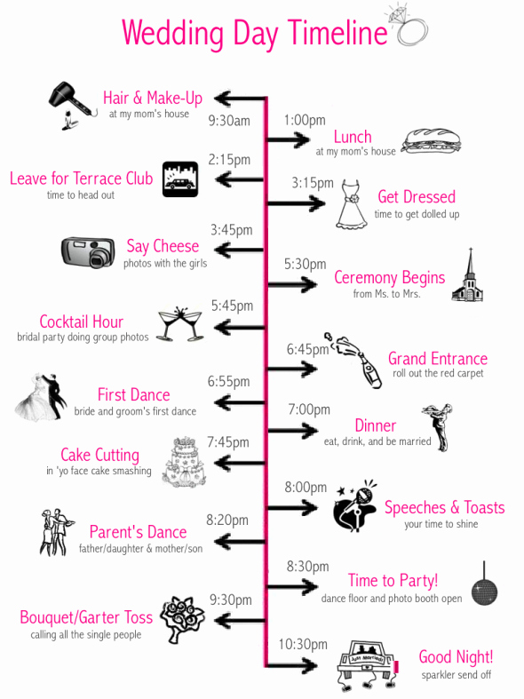 Wedding Day Timeline Template Free Awesome Wedding Day Timeline Template