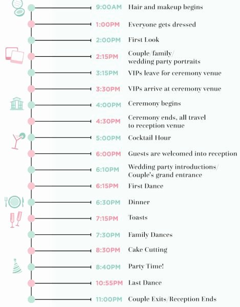 Wedding Day Timeline Template Free Elegant 9 Wedding Day Timeline Rules Every Couple Should Follow