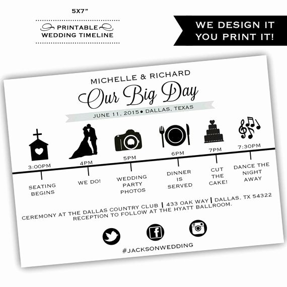 Wedding Day Timeline Template Free Elegant Best 25 Wedding Itinerary Template Ideas On Pinterest