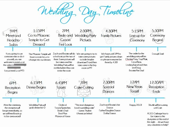 Wedding Day Timeline Template Free Elegant Wedding Day Timeline Template