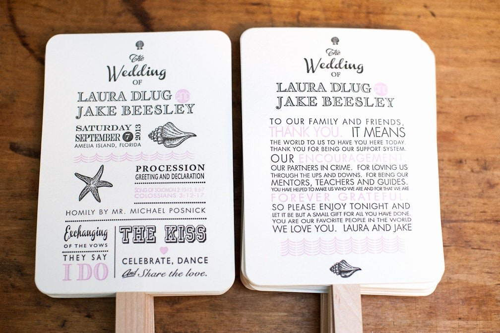 Wedding Fan Program Kit Best Of Beach Wedding Program Fan Kit Destination Wedding Program