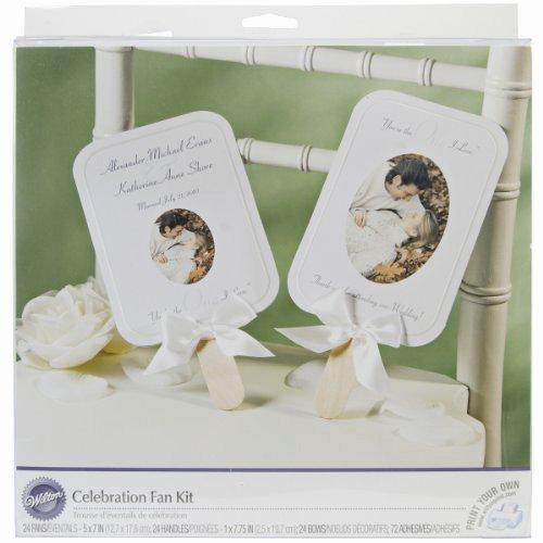 Wedding Fan Program Kit Elegant Wedding Program Fan Kits or Start From Scratch