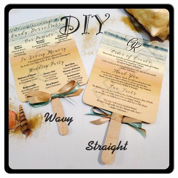 Wedding Fan Program Kit Fresh Items Similar to Diy Kit for Paddle Fan Wedding Programs