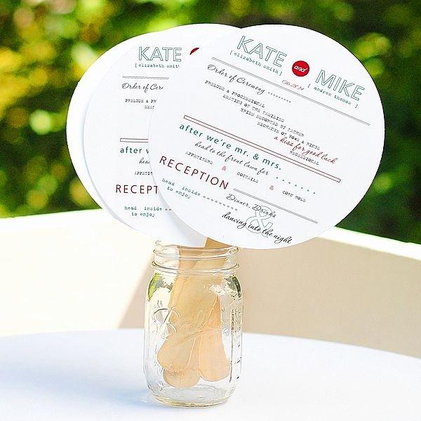 Wedding Fan Program Kit Lovely Diy Circle Fan Program Kit