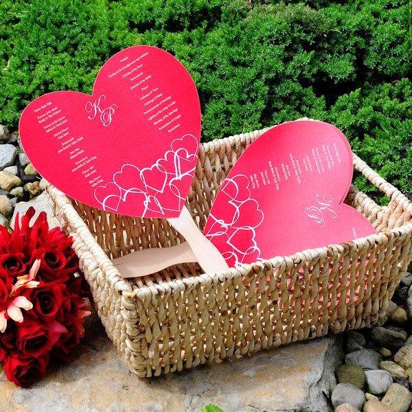 Wedding Fan Program Kit Unique Do It Yourself Heart Fan Wedding Programs Kit