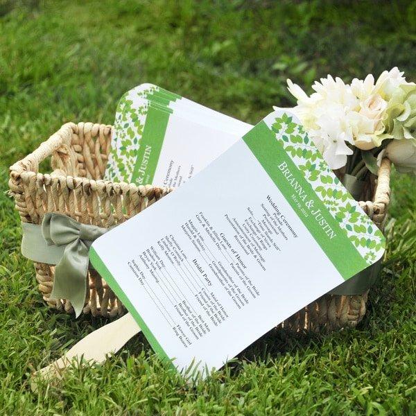 Wedding Fan Program Kit Unique Shop Diy Designer Fan Program Paper Kit Free Shipping