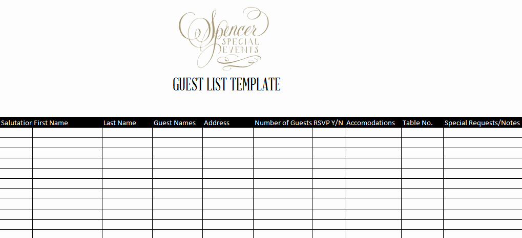 Wedding Guest List Pdf Best Of 7 Guest List Templates Excel Pdf formats