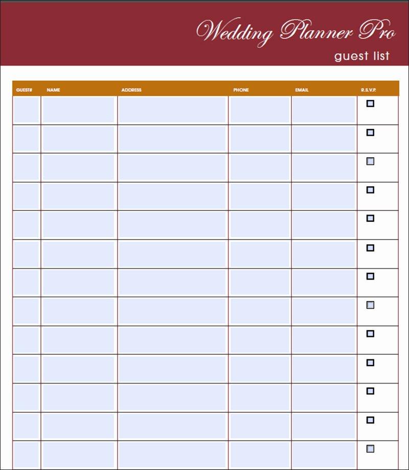 Wedding Guest List Pdf Elegant 7 Wedding Guest List Template Free Word Excel Pdf formats