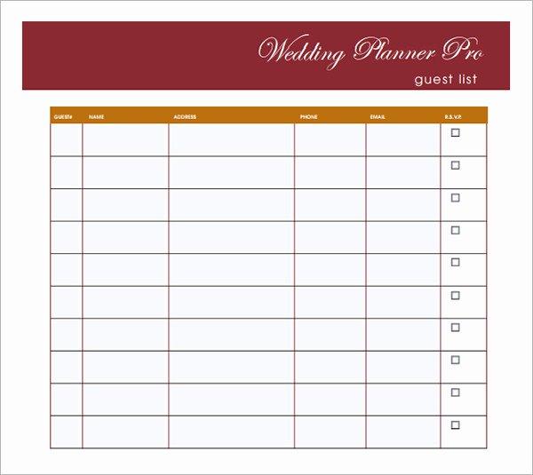 Wedding Guest List Pdf Fresh 17 Wedding Guest List Templates Pdf Word Excel