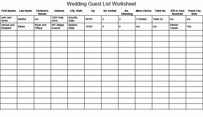 Wedding Guest List Pdf New 41 Free Guest List Templates Word Excel Pdf formats
