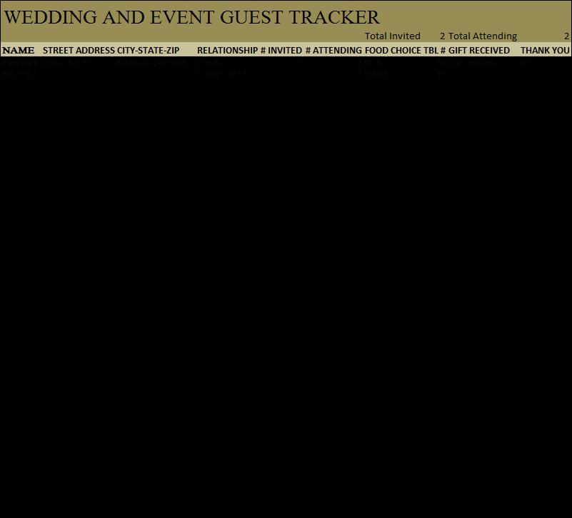Wedding Guest List Tracker Awesome Best Wedding Guest List Tracker Driverlayer Search Engine