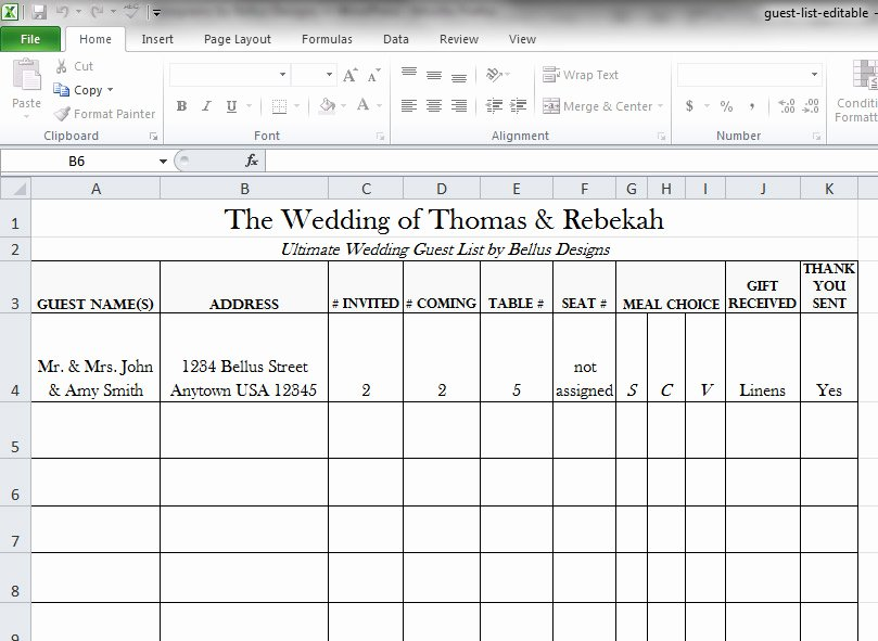 Wedding Guest List Tracker Beautiful Free Downloadable Wedding Guest & Rsvp List Bellus Designs