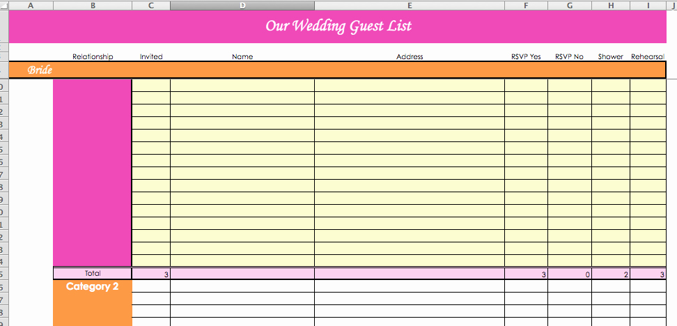 Wedding Guest List Tracker Best Of Laura S Plans Super Helpful Wedding Planning Spreadsheets