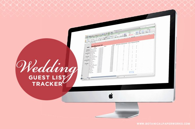 Wedding Guest List Tracker Lovely Free Printables Wedding Planning Binder