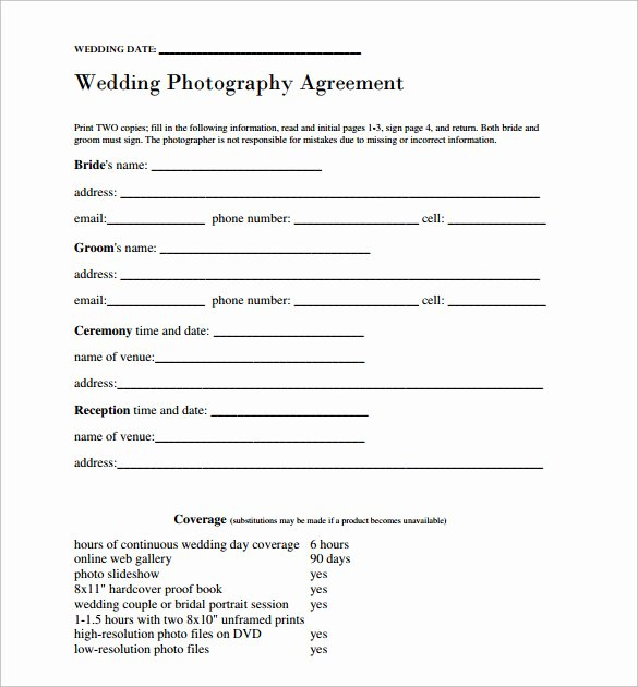 Wedding Hair and Makeup Contract Template New Wedding Contract Template 24 Download Free Documents