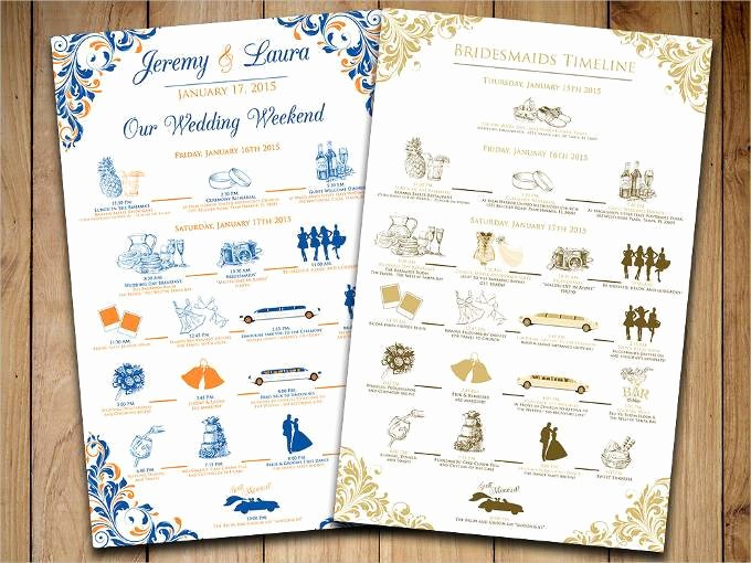 Wedding Party Lineup Template Awesome 44 Wedding Itinerary Templates Doc Pdf Psd