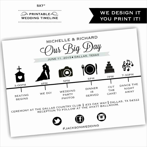Wedding Party Lineup Template Lovely 29 Wedding Timeline Template Word Excel Pdf Psd