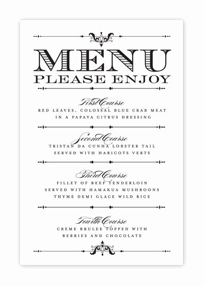 Wedding Party Lineup Template Luxury Free Printable Wedding Menu Templates