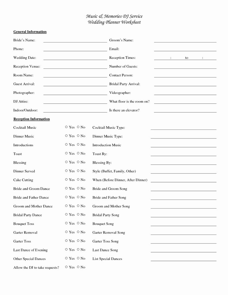 Wedding Party Lineup Template New 25 Best Ideas About Wedding Reception Checklist On
