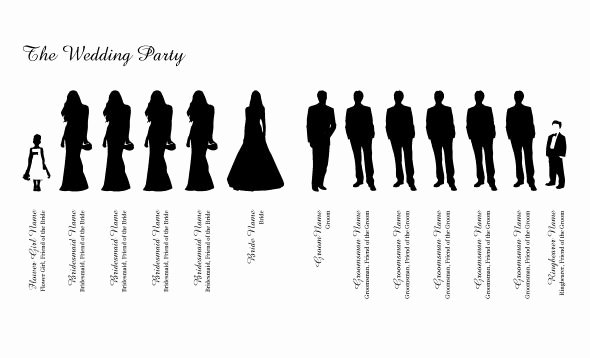 Wedding Party Lineup Template Unique Wedding Party Clipart Clipground