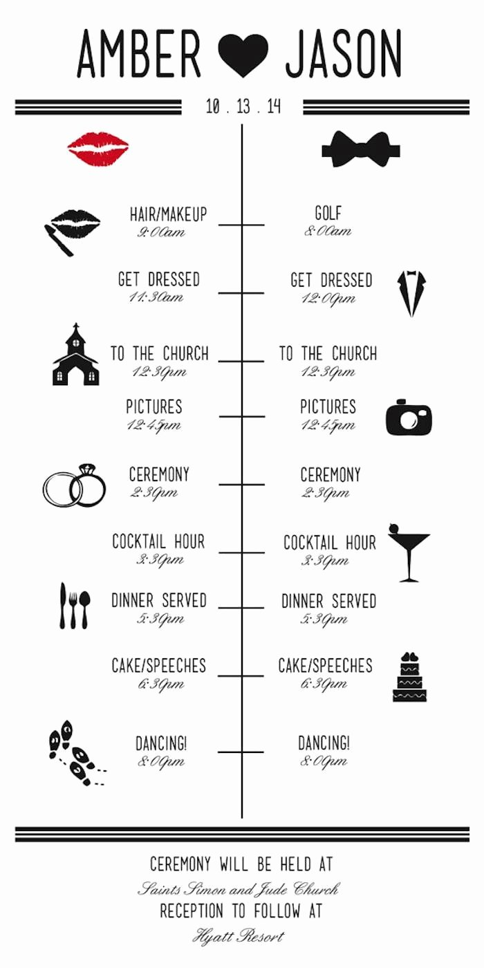 Wedding Party Lineup Template Unique Wedding Reception Timeline Planning Guide Modwedding