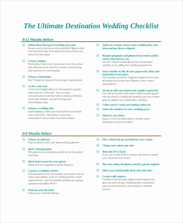 Wedding Photo Checklist Word Document Awesome Sample Wedding Checklist 24 Documents In Pdf Word