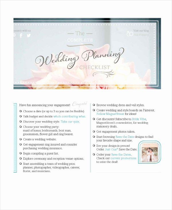 Wedding Photo Checklist Word Document Awesome Wedding Planner Checklist 12 Free Word Pdf Psd