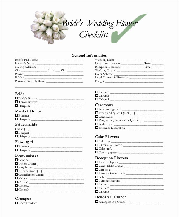 Wedding Photo Checklist Word Document Best Of Simple Wedding Checklist 25 Free Word Pdf Documents