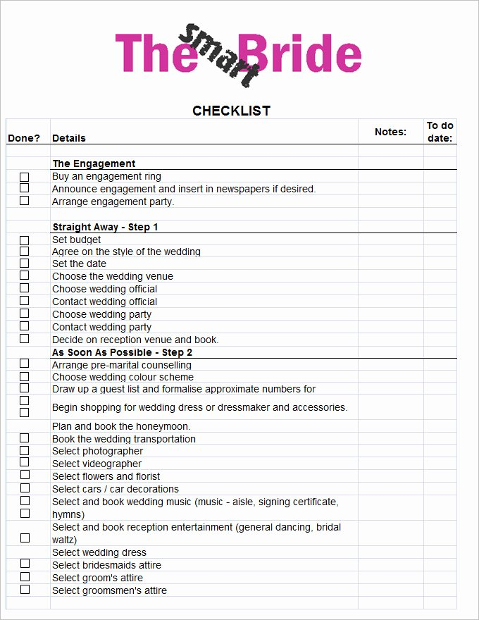 Wedding Photo Checklist Word Document Best Of Wedding Checklist Template 20 Free Excel Documents