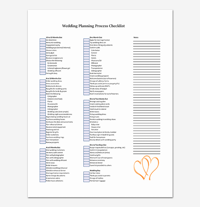 Wedding Photo Checklist Word Document Lovely Process Checklist Template 20 Editable Checklists