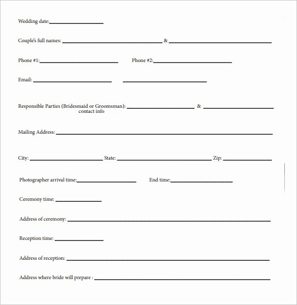 Wedding Photography Contract Template Word Awesome Wedding Contract Template 18 Download Free Documents