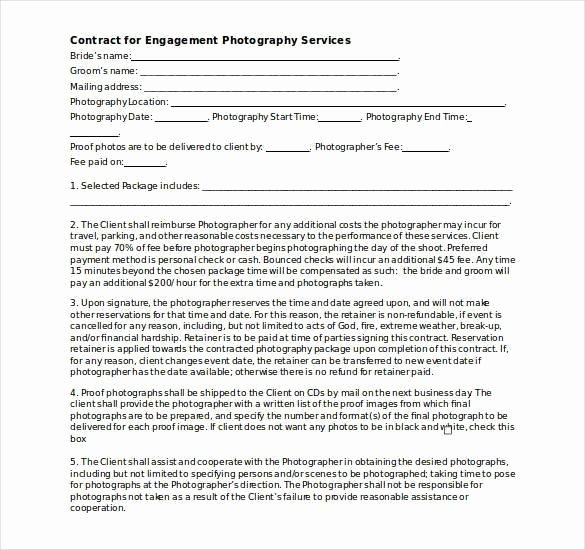 Wedding Photography Contract Template Word Elegant Graphy Contract Template – 20 Free Word Pdf