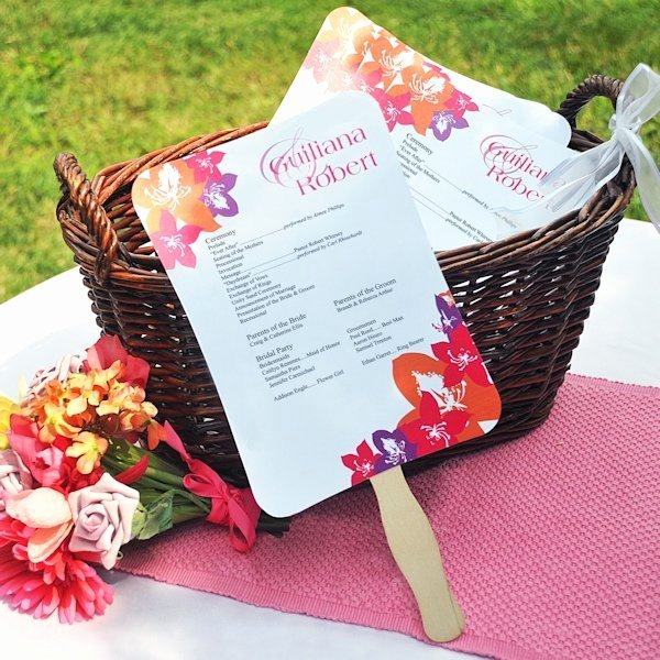 Wedding Program Fan Kit Awesome Diy Wedding Program Fans Kit with Design Template