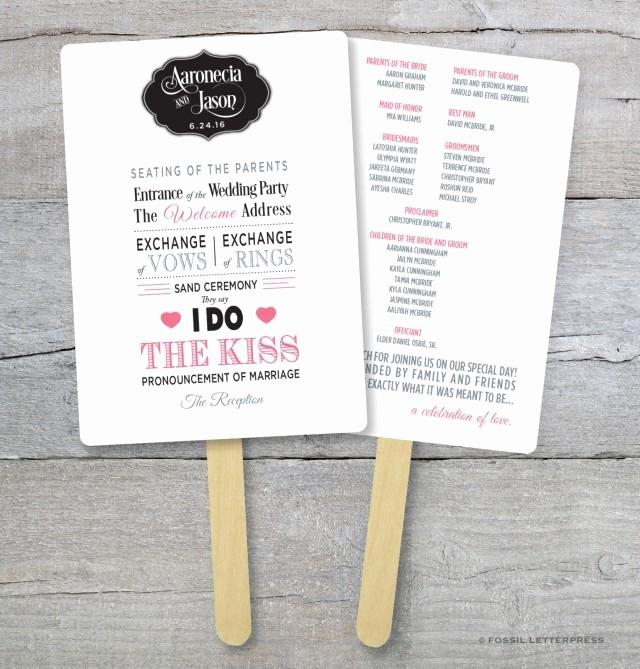 Wedding Program Fan Kit Beautiful Diy Wedding Program Fan Kit order Service Fan
