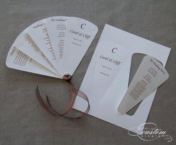 Wedding Program Fan Kit Beautiful Perfect Petals Fan Program Wedding Bee Giveaway 2